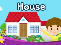 Kids vocabulary – House – Parts of the House – Learn English for kids