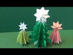 【クリスマス】折り紙1枚でクリスマスツリーを作ろう