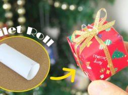 【クリスマス】トイレットペーパーの芯を再利用!簡単クリスマスオーナメントを作る。