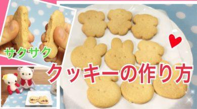 卵不使用・簡単クッキーの作り方★クリスマスやバレンタインに★子供と一緒に作ろう♪