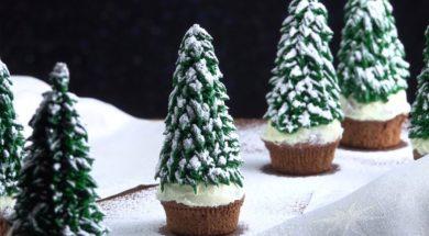 丸ごと食べられるクリスマスツリーカップケーキの作り方★edible christmas tree★