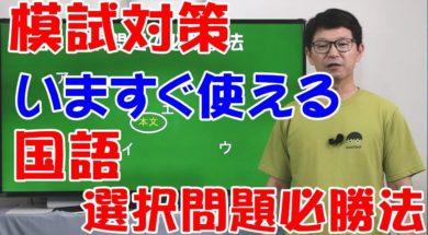 【中学受験】国語選択問題必勝法!(中学入試から大学入試まで使える)