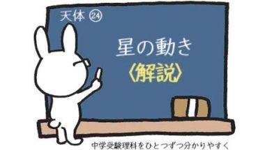 【中学受験・理科】星の動き