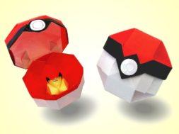 【ポケモン】折り紙でモンスターボールを作ろう