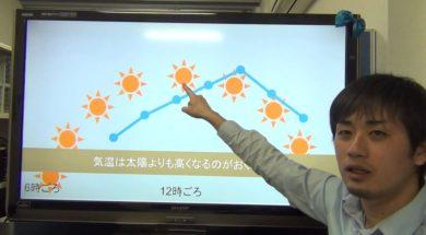 【小学校3年4年 2-1-2】太陽の動きと気温の変化