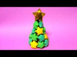 折り紙で星がいっぱいのクリスマスツリー /Origami Christmas tree with star
