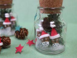 Totoro Santa Claus~Acorn DIY 「トトロサンタ 」どんぐりで作ろう!
