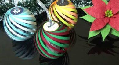 クリスマスの飾り トイレットペーパーの芯で卵の形の可愛いボールの作り方