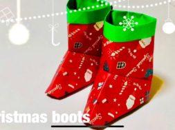 折り紙 クリスマス サンタブーツ
