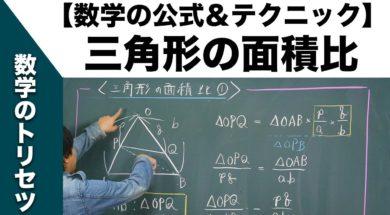 高校入試 高校受験 数学テクニック【三角形の面積比】裏ワザ