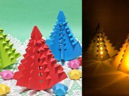 【折り紙・A4用紙】クリスマスツリーの作り方