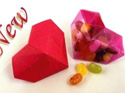 折り紙ハート箱 🧡Origami 3D Heart Box