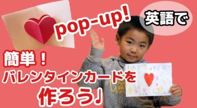 【英語で工作】簡単!カワイイ!ポップアップ!バレンタインカードを作ったよ! #187
