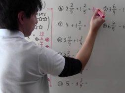 分数のたし算・ひき算(くり上がり・くり下がり②) 小学4年生 算数