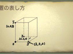 位置の表し方(立体) 小学4年生 算数