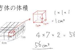 直方体、立方体の体積 小学5年生 算数