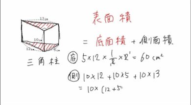 角柱の表面積 小学5年生 算数