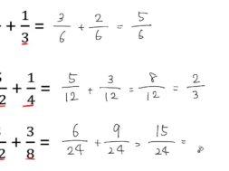 分数の足し算、引き算(通分あり) 小学5年生 算数