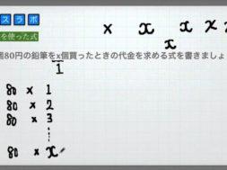1つの文字を使った式 小学6年生 算数