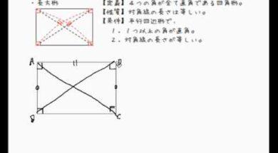 【中学2年 数学】長方形の定義、性質、条件