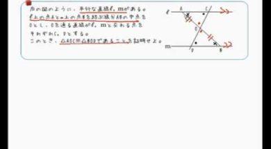 【中学2年 数学】平行線の性質を使った証明