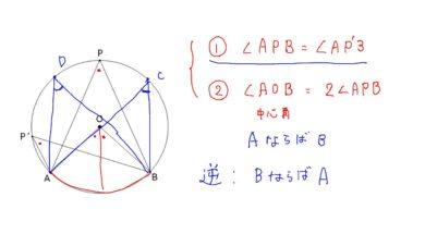 【中学2年 数学】円周角の定理の逆