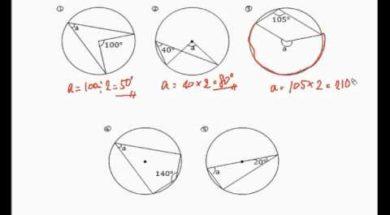 【中学2年 数学】円周角をもとめる①