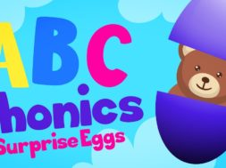 ABC phonics – A is for apple SURPRISE EGGS