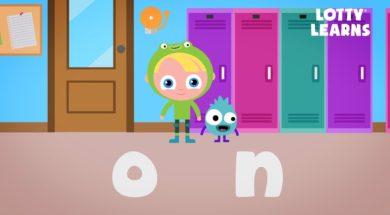 Kids Reading Lesson 10 – Two Letter Blending with Short O