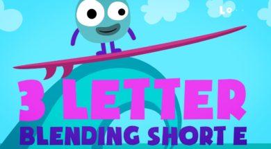 Kids Reading Lesson 17 – Three Letter Blending with Short E
