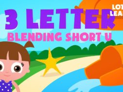 Kids Reading Lesson 20 – Three Letter Blending with Short U