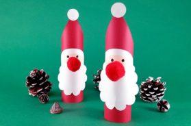北欧風サンタ人形の作り方〜トイレットペーパーの芯で作れる!