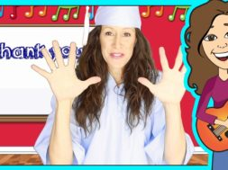 Graduation Song Thank you for kids, children & babies with lyrics and tutorial